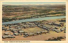 Fred Harvey Linen Postcard; Native American Pueblo of San Felipe NM Sandoval Co.