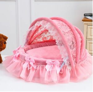 New Roof Princess Soft Pet Dog Cat Sofa Bed House Mat Cushion Kennel Pink/Purple