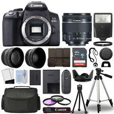 Cámara SLR Canon EOS 850D/Rebel T8i + Kit de 3 Lentes 18-55mm + 16GB + Flash Y Más