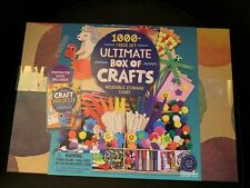 ULTIMATE Box of Crafts 1000 Piece Set With Case & Inspiration Guide NEW