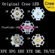 Cree Led Luz Xpe Xpg Xre Q5 Xte Xm-l2 3w5w 10w Cálida Cool Rojo Azul