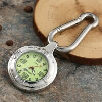 Outdoor Carabiner Backpack Buckle Quartz Watch Rock Climbing Hook Luminous Nurse