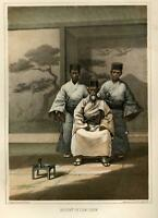 Regent of Lew Chew Ryuku Islands Japan 1856 Perry Expedition litho view print