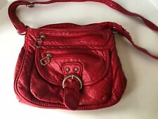 Red Crossbody bag by Icing, great condition, lots of pockts