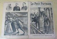 Le petit parisien 1894 267 Arrestation d'un cambrioleur