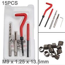 Brand New XTools 15 Piece Helicoil Thread Repair Insert Kit M9 x 1.25 x 13.5mm