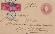S1412-ARGENTINA,BUSTA DA 5 CENTAVOS+ COPPIA 5c.,BUENOS AIRES PER FILOTTRANO,1900