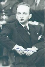 Sgt. Benjamin Ferencz Signed 4x6 Photo World War II Nuremberg Trials Gen. Patton