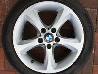 """BMW E81 E82 E87 E88 1 SERIES 17"""" STYLE 256 ALLOY WHEEL & TYRE 6778219 7Jx17 #5"""