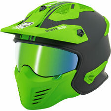 Broken Head Casco de Trial Street Warrior Verde