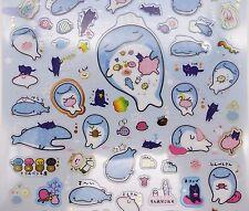 Japanese Jinbei-San whale shark stickers Kawaii San-X jellyfish stingray ocean 2