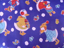 Winter Ducks with hats and sweaters allover Quilting Cotton Fabric BTY