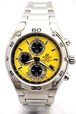 CASIO EF-517D-9A Analog Yellow Dial Black 3subdial Stainless Steel Bracelet