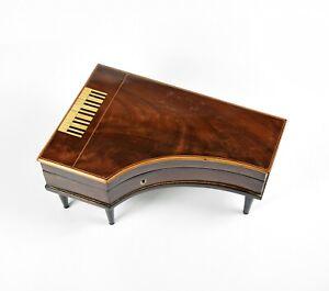 Herrliche Dose Holzdose Biedermeier Flügel early wooden box in piano form