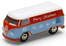 GENUINE VW T1 CAMPER VAN LIMITED EDITION 'MERRY CHRISTMAS' 1:87 MODEL