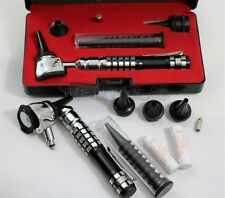 NEW Incredible 3.2V Pro LED OTOSCOPE Set w/Hard Case + FREE BATTERIES+1 BULB-BLK