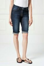 NEXT Dark Blue Denim Knee Shorts 18Tall