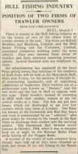 1936 How Fishing Industry Anxiety, Kelsall Beeching, Steam Fishing Ice Company