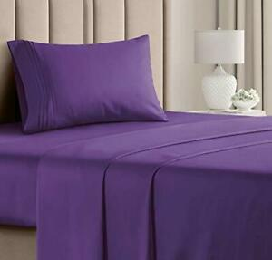 Twin XL Sheet Set - 3 Piece - College Dorm Room Bed Sheets - Hotel Luxury Bed...