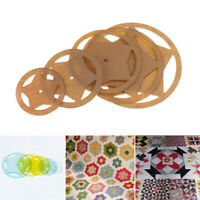 5pcs Assorted Round Acrylic Quilting Templates Ruler for Patchwork Sewing