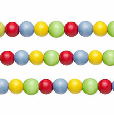 Wood Round Beads Rainbow 8mm 16 Inch Strand