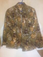 Outdoor Life Camouflage  Shirts~Med. Button front