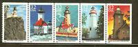 US Scott # 2969-2973a Lighthouses  Booklet Panes of 5 MNH OG - Free ship