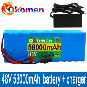 48V ebike battery pack 58Ah For Electric bicycle Scooter with BMS+charger