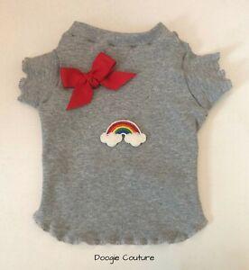 Over The Rainbow Dog T-Shirt Clothes Size XXXS-Large