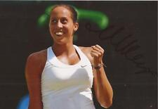 TENNIS: MADISON KEYS SIGNED 6x4 ACTION PHOTO+COA *WIMBLEDON* *PROOF*