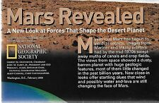 NATIONAL GEOGRAPHIC MAP - MARS REVEALED - February 2001
