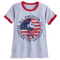 Disney Store Minnie Mouse Americana T Shirt Tee for Women Size XL 2XL 3XL 4XL