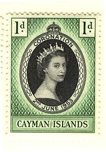 CAYMAN ISLANDS 1953 CORONATION  MNH