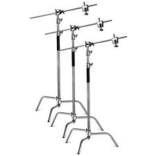 Neewer Pro 90090836 Stainless Steel Adjustable Reflector C-Stand - 3 Pieces