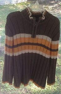 Boys Childrens Place 1/4 zip sweater pullover winter holiday small 5/6 Shirt Top