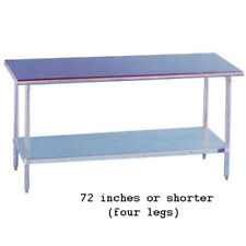 """Stainless Steel Work Table 18"""" Wide Size 48"""""""