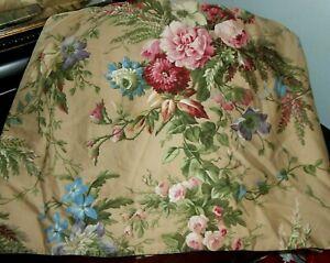 Pre-owned RALPH LAUREN ADRIANA Floral QUEEN Bedskirt