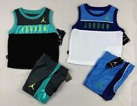 Nike Jordan Baby Boys' set, 2-Piece Tank & Colorblocked Shorts Set- 12,18,24 mos