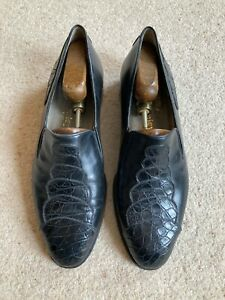 Russell & Bromley real crocodile skin shoes, black size 8.5, excellent condition