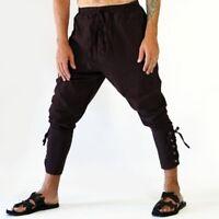 Banded Pants Men's Medieval Ankle Lace Up Viking Navigator Renaissance Trousers
