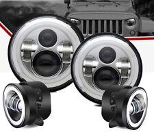 """Terrain Vision Daymaker w/DRL & Amber, Led 7"""" Headlight/4"""" Foglight Kit, Jeep"""