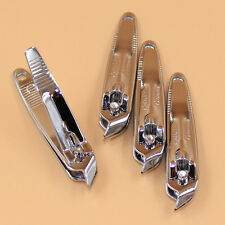 Silver Hand Slant Edge Finger Nail Clipper scissors Manicure Trimmer Cutter