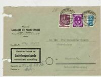 German 1952 MunsterW Cancel Obligatory Tax Aid for Berlin Stamps Cover Ref 26794