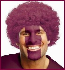 AFRO Maroon WIG Unisex Curly Hair Sports Circus Clown Carnival QLD Costume Party