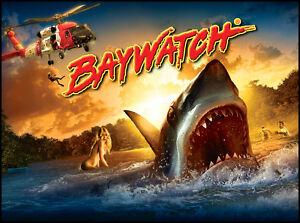 Baywatch Pinball Alternate Translite 3 Versions to Choose From!