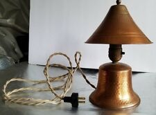 1930's ARTS AND CRAFTS HAMMERED COPPER DESK/TABLE LAMP. ORIGINAL WIRING W/BULB