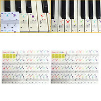 2 Pack Piano & Keyboard Stickers for 37/54/61/88 Beginner Colorful Learning