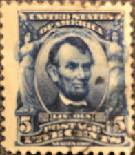 Scott #304 US Series of 1902 Lincoln Postage Stamp VF