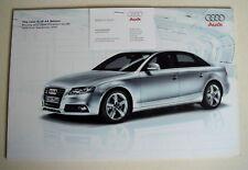 Audi . A4 . The new A4 Saloon . September 2007 Sales Brochure