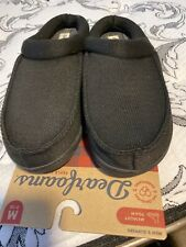 Dearfoams Memory Foam Clog Slippers Washable - Black Men's Size Medium 9-10
